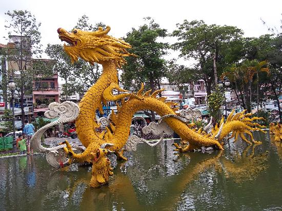 Ho Chi Minh City Vietnam Golden Dragon