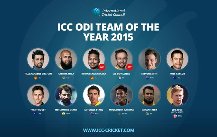 ICC ODI Team of the Year 2015