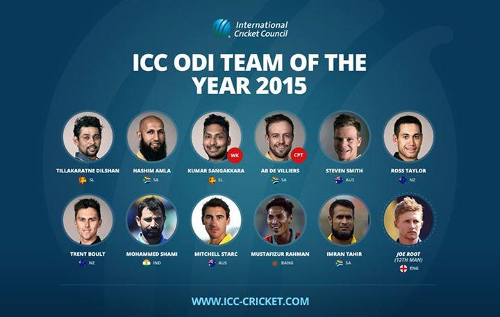 ICC ODI Team of the Year 2015