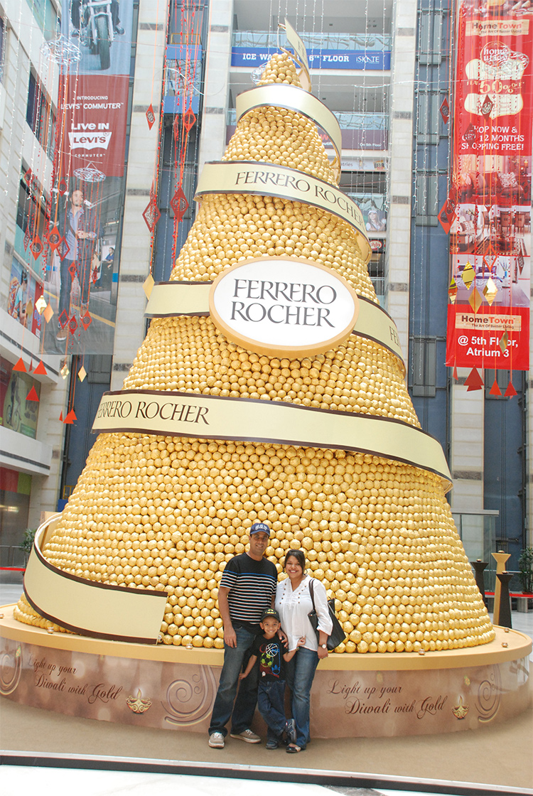 India Biggest Ferrero Golden Pyramid in India