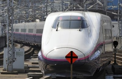 India could soon see bullet trains similar to those used in Japan, as pictured.