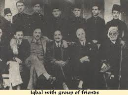 Iqbal with friends