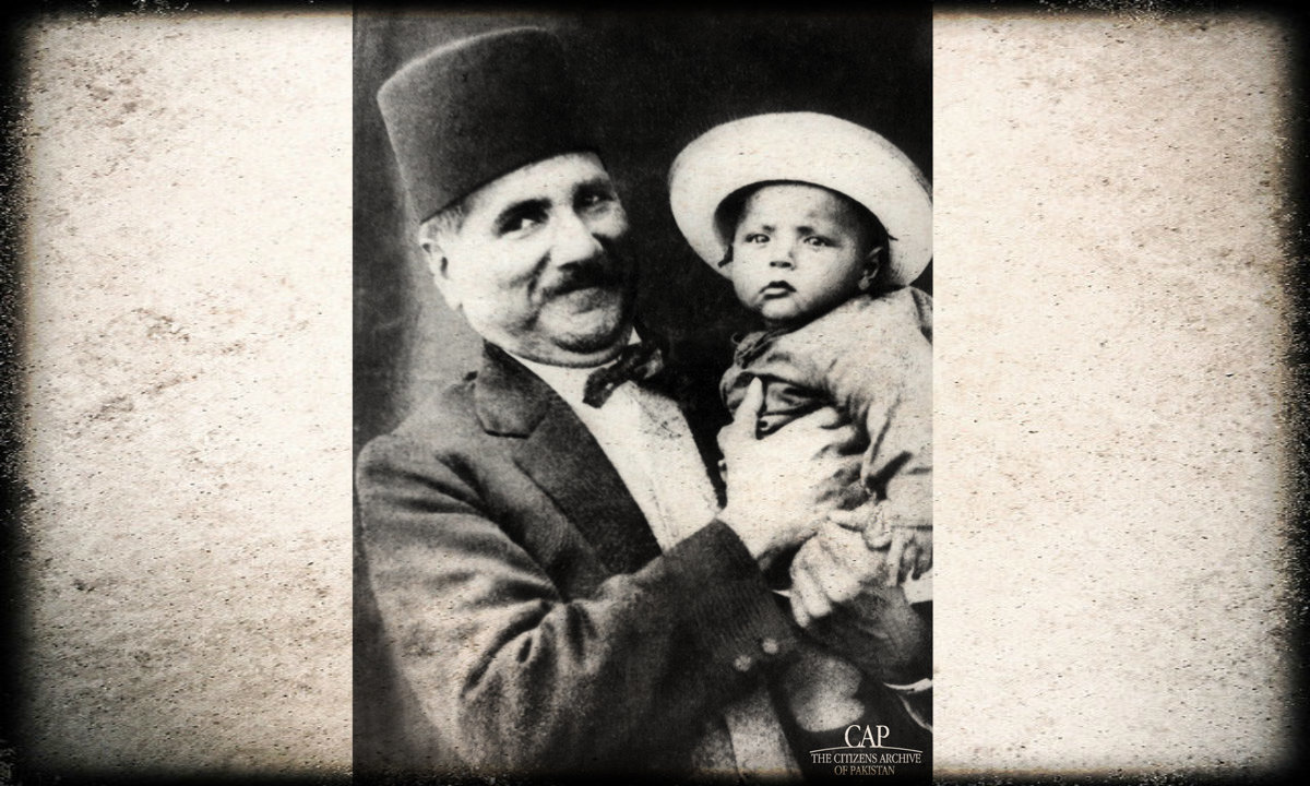 Iqbal with his son