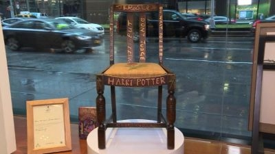 J.K. Rowling's 'Harry Potter chair' going to auction
