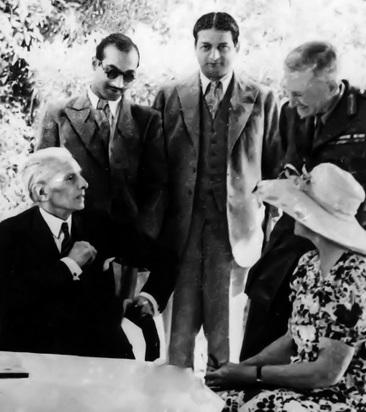 Jinnah with friends