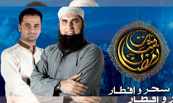Junaid-Jamshed-and-waseem-badami-ARY-digital-Shan-e-Ramazan