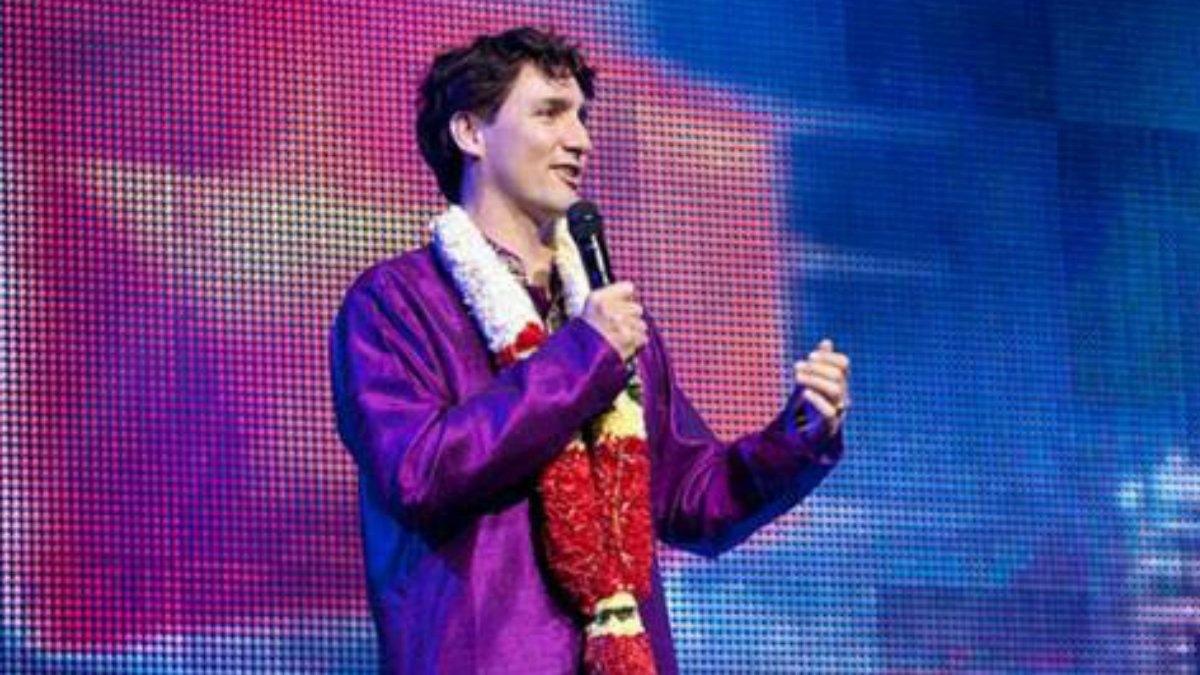 Justin Trudeau in Desi clothes