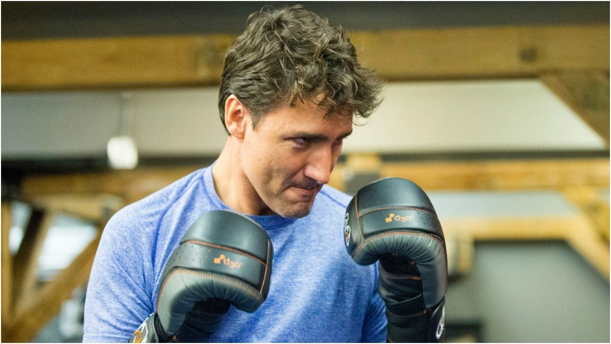 Justin while boxing