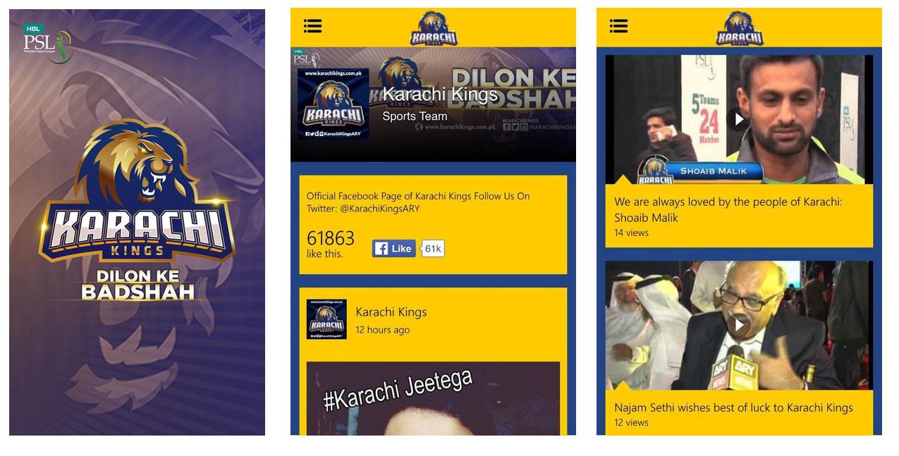 Karachi Kings app.brandsynario