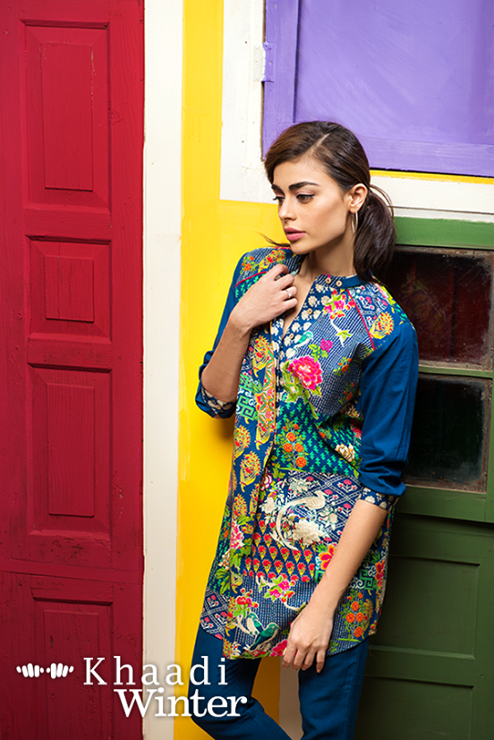 Khaadi Winter Collection 2015 Frenzy of Patterns (8)