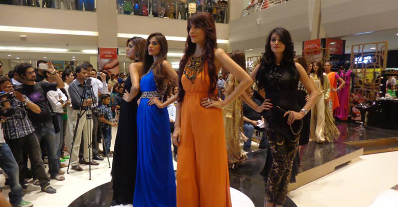 L Oreal Mall activation in Karachi