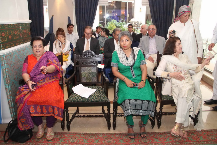 (L- R ) - Dr. Shireen Mazari, Dr. Dushka, Dr. Parveen at launch ceremony of KKAWF in Islamabad_resize