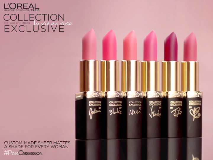 L Oréal Makeup S Life In Pink Beauty Film Launches Exclusive Pinks. On Colour Riche Lipstick ...