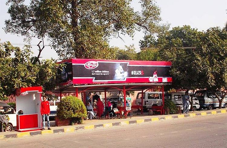 Lifebuoy Bus shelters Branding in Lahore