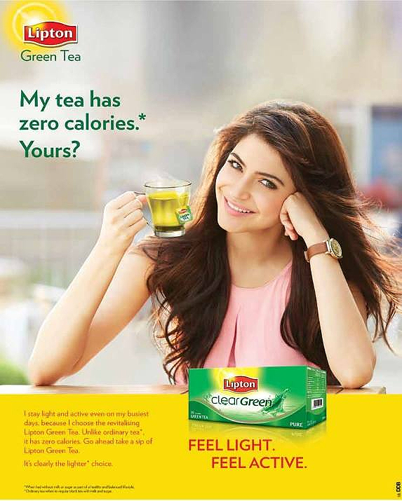 Lipton Green Tea Ad Featuring Anushka Sharma