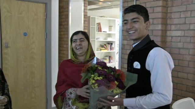 Malala with Anwar Ullah