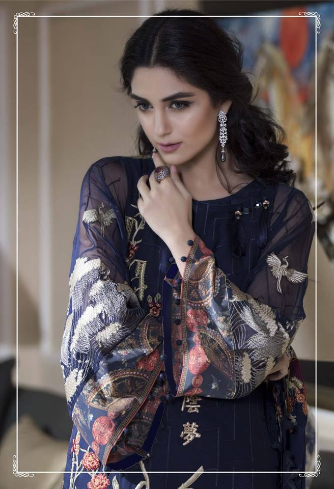 91a1590212 Maria.B Embroidered Luxury Collection 2016 Feat. Maya Ali Launched -  Brandsynario