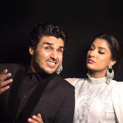 Mehwish Hayat and Ahsan Khan