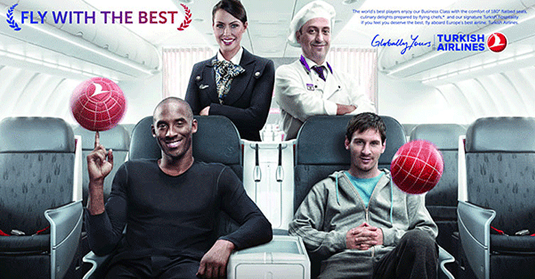 Messi and Bryant Compete with Best Selfies for Turkish Airlines