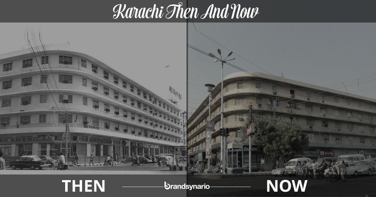 Karachi famous buildings: Then & Now