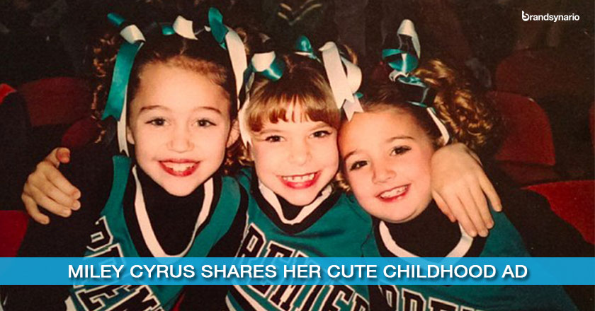Miley Cyrus Shares Her Cute Childhood Ad