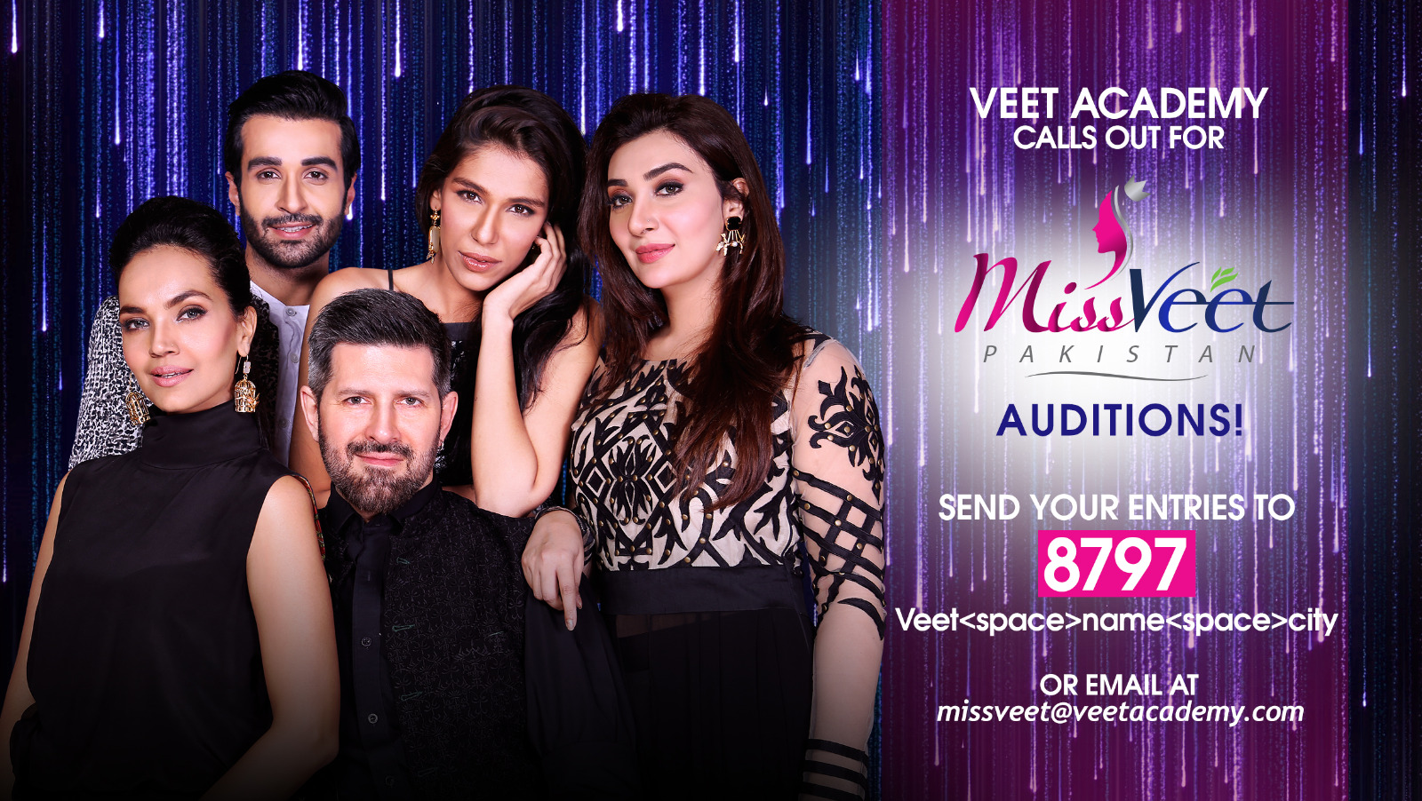 Miss Veet Pakistan opens for auditions