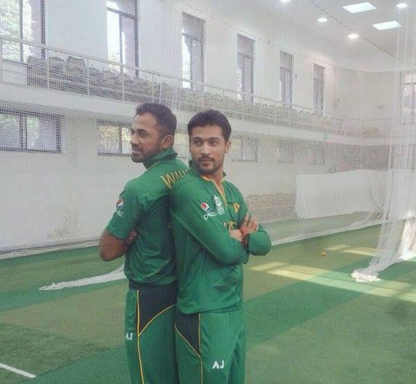 Mohammad Amir and Wahab Riaz