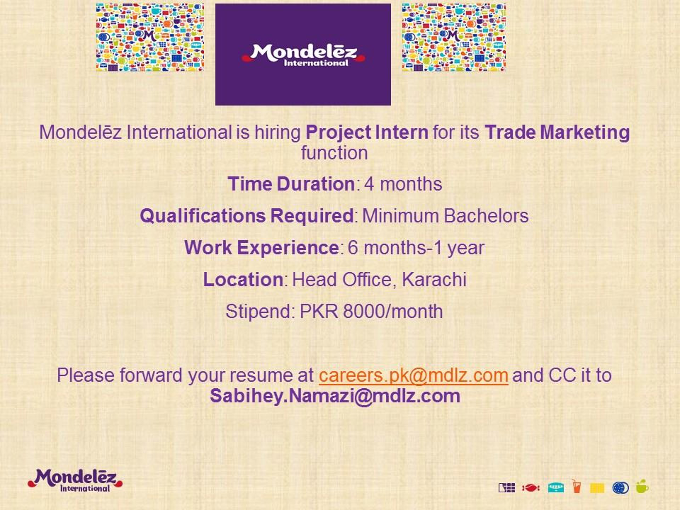 Mondelez-international internship