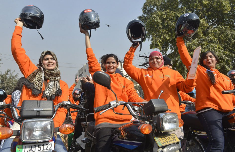 Women Motorcycle rally