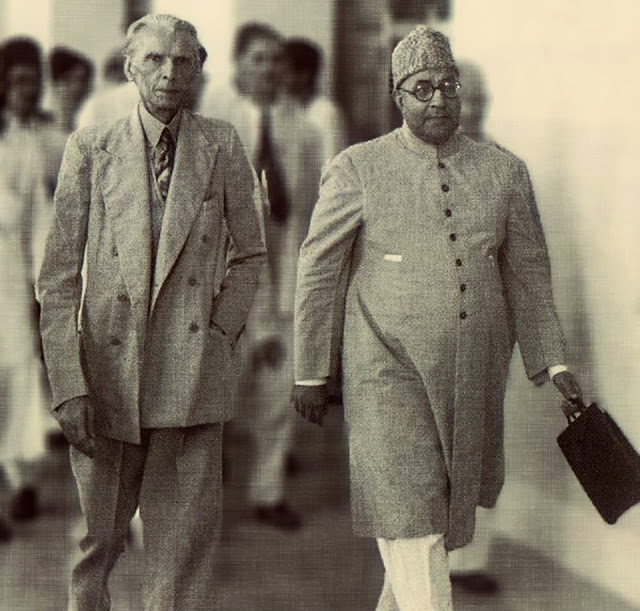 Mr.Jinnah with Nawab Liaquat Ali