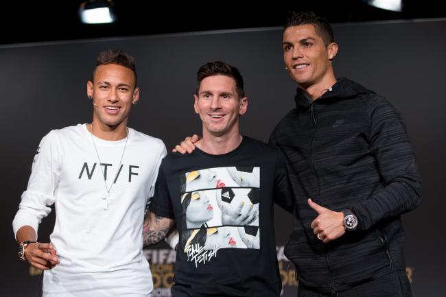 Neymar Ronaldo and Messi