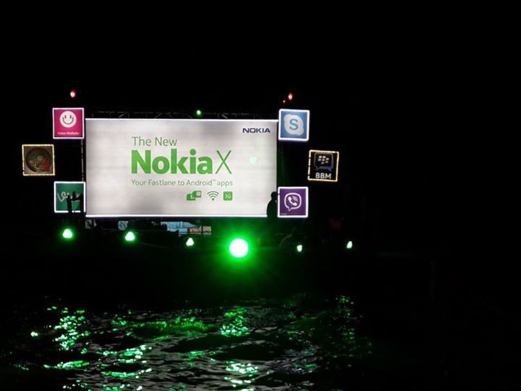Nokia X Floating Billboard Do Darya Karachi Pakistan