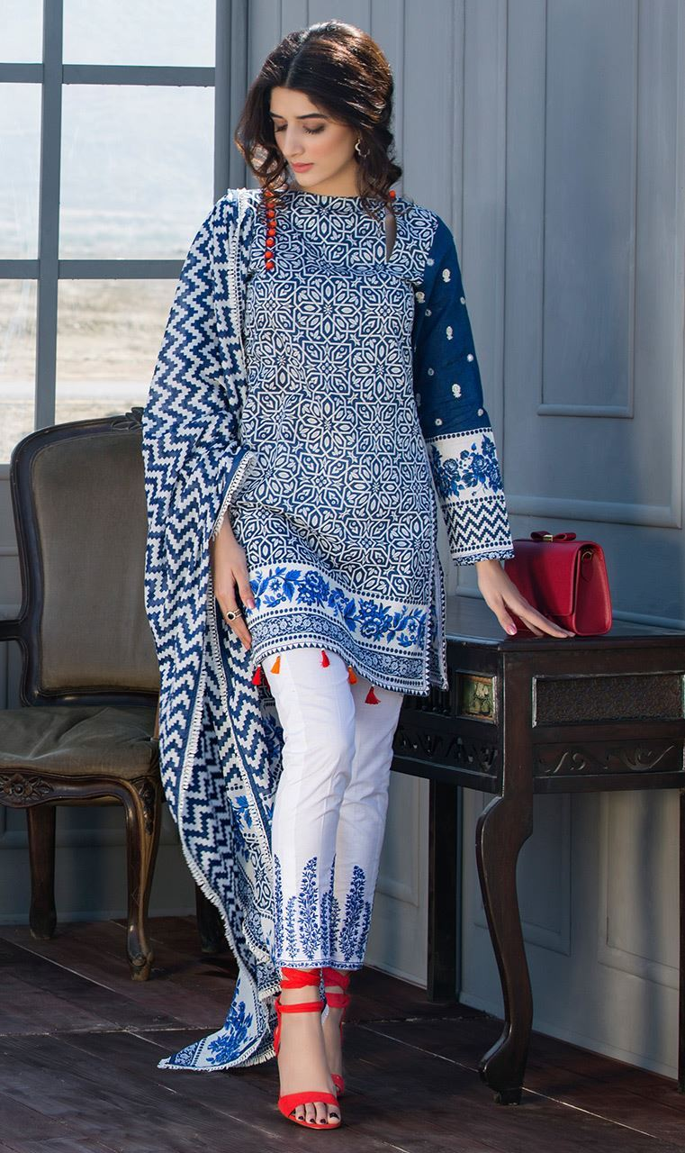 Orient Textiles Lawn 2017 Collection 2 Piece