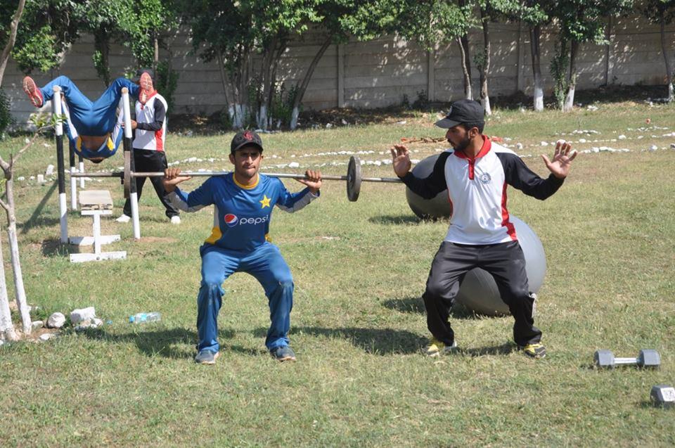 Pakistan cricket team army boot camp in kakul