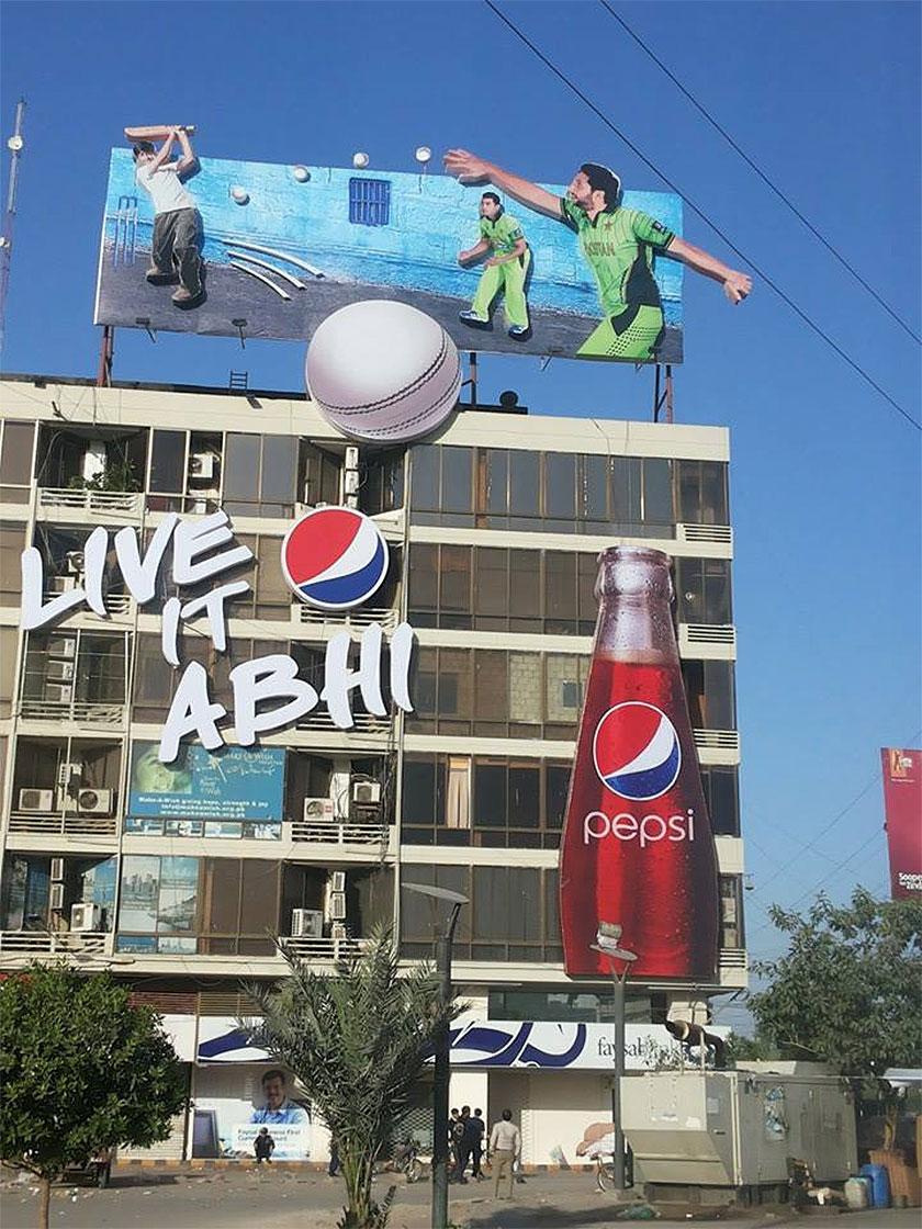Pepsi Creative OOH Campaign World Cup 2015