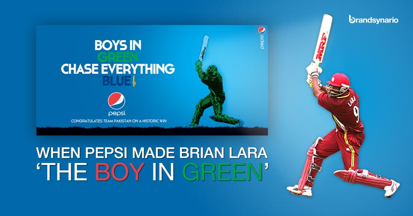 Pepsis Blunder Congratulates Pakistani Team with Brian Laras Picture