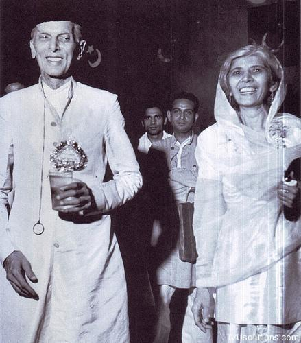 Quaid-e-Azam with Fatimah Jinnah