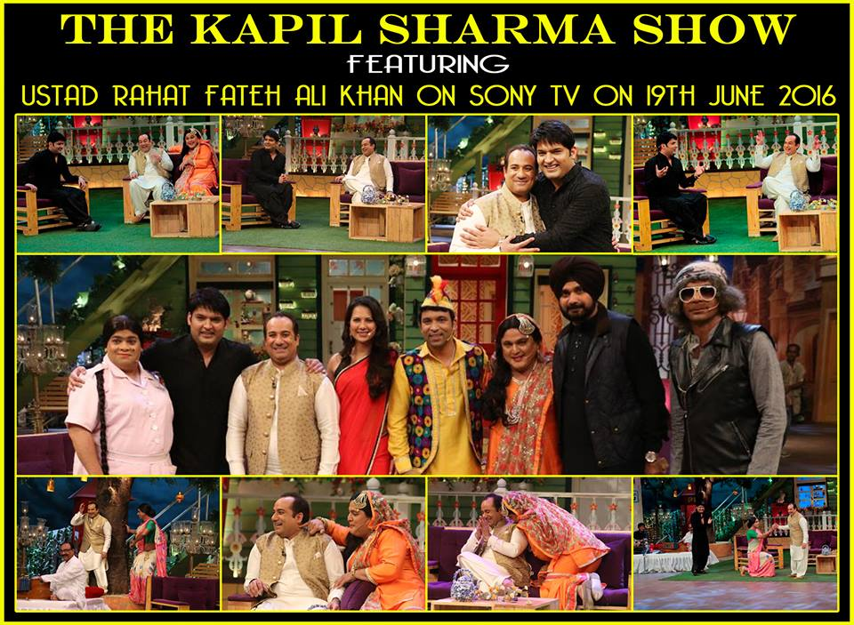 Rahat Fateh Ali Khan in The Kapil Sharma Show