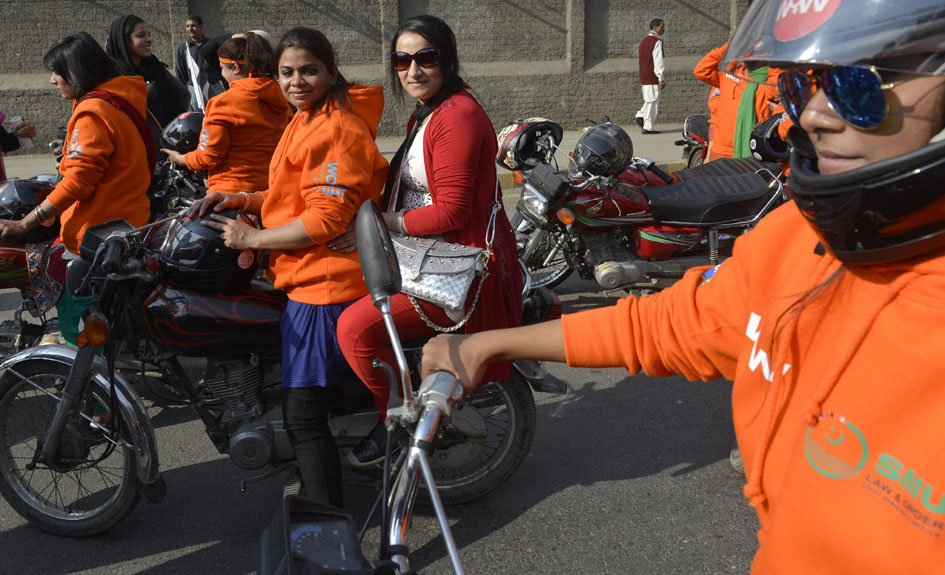 Women Motorcycle rally
