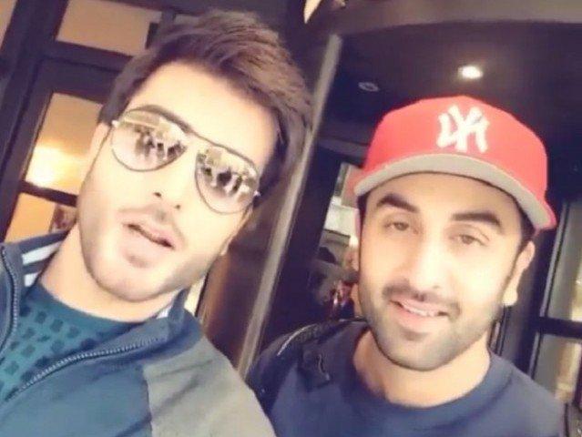 Ranbir Kapoor and Imran Abbas Selfie