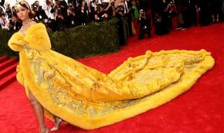 Rihanna Yellow Dress