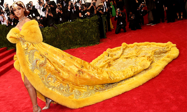 Rihanna Yellow Dress