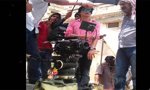 Sahir Lodhi on the sets of Mausam
