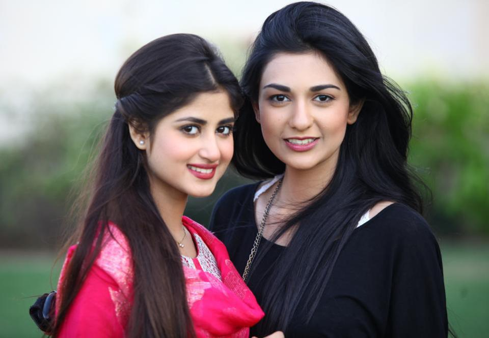 Pakistani actress Sajjal Ali and Sister Saboor Ali