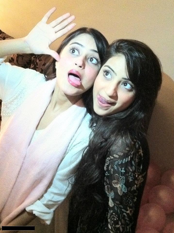 Pakistani actress Sajjal Ali & Sister Saboor Ali