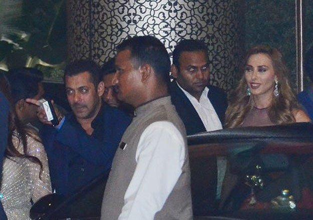 Salman and Lulia Vantur at Priety's Wedding Reception