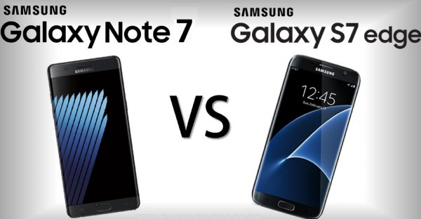 Samsung Galaxy S7 Edge Vs. Galaxy Note 7 Comparison: Specs