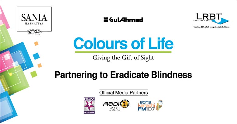 Sana Maskatiya Teams Up with Gul Ahmed & Syra Shahroze to Support Anti- Blindness Cause