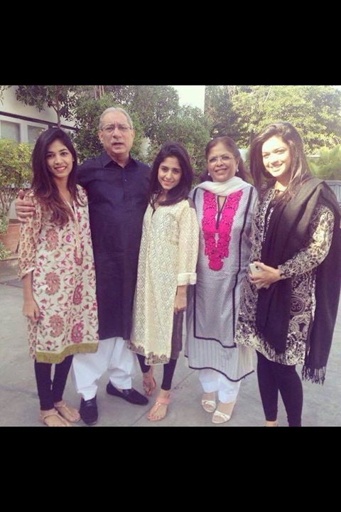 Pakistani actress Sanam Jung with family