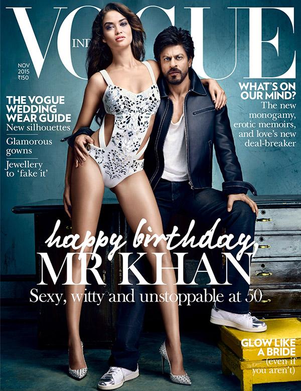 Shahrukh Khan on Vogue India Magazine Cover